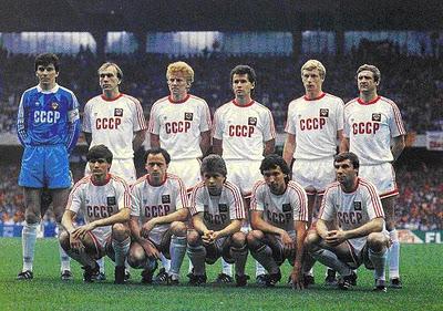 Lobanovskyi's USSR at Euro 1988